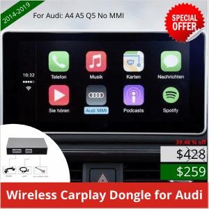 Wireless CarPlay dongle for Audi