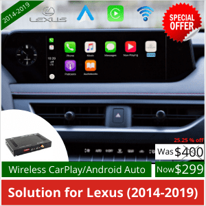 Wireless CarPlay dongle for Lexus