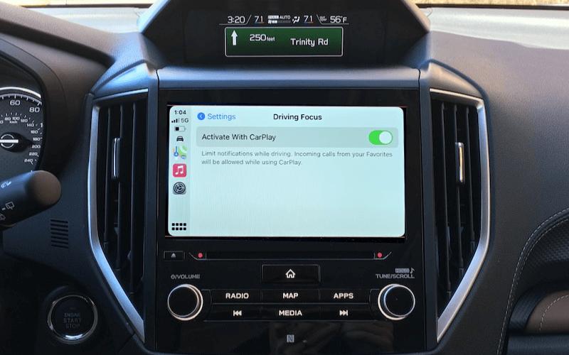 driving focus on apple carplay ios 15
